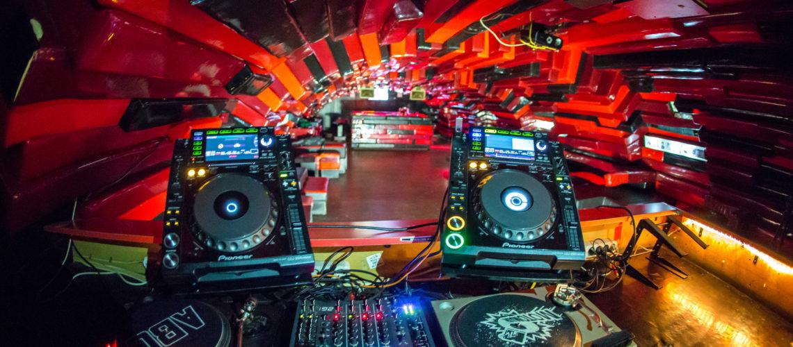 the DJ desk