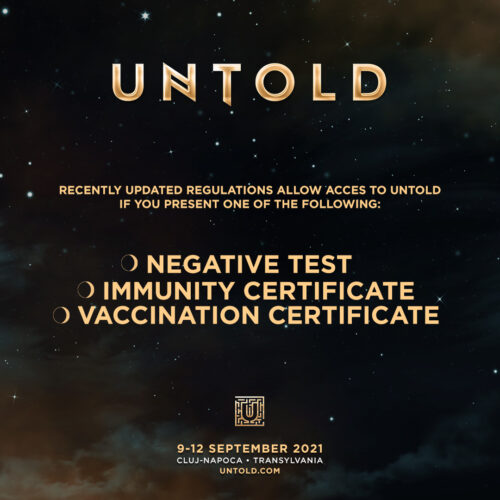 FREE FOR EVERYONE AT UNTOLD!  RESTRICTIONS HAVE BEEN LIFTED IN ROMANIA! ACCESS AND ANTIGEN TEST